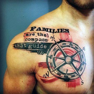 imagenes de brujulas para tatuajes de hombres