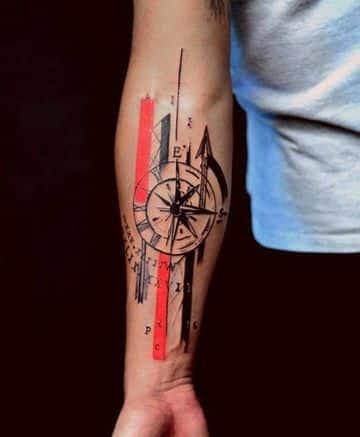 imagenes de brujulas para tatuajes en el brazo
