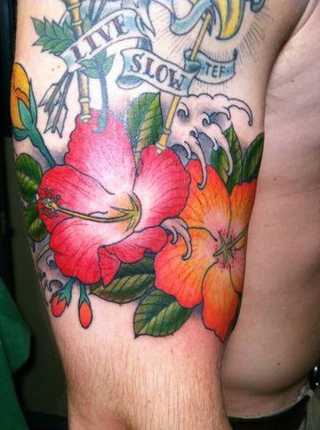 tatuajes de flores para hombres playeras