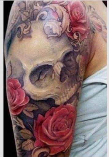 tatuajes de vida y muerte en el brazo