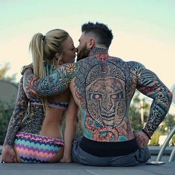 tatuajes para parejas en la espalda grandes