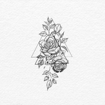 bocetos de rosas para tatuar diseños