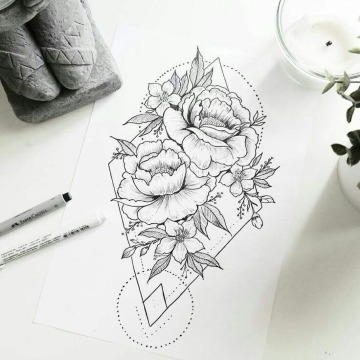 bocetos de rosas para tatuar drawing