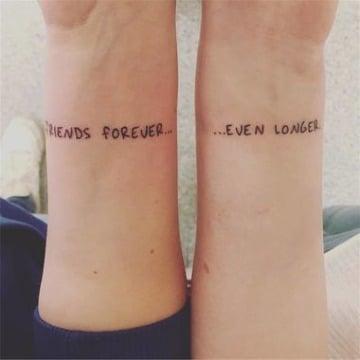 diseños de tatuajes de amigas por siempre