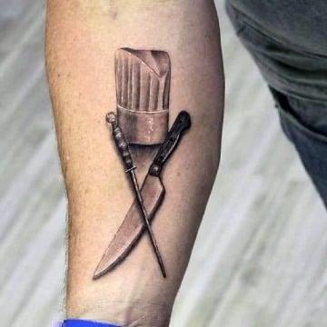 diseños de tatuajes de cuchillos de chef