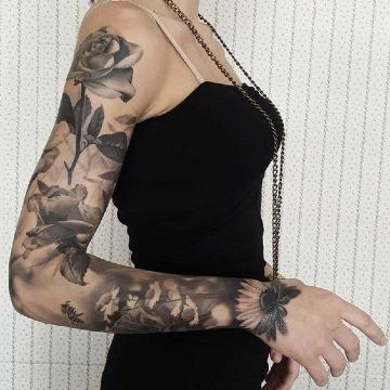 diseños de tatuajes de manga completa