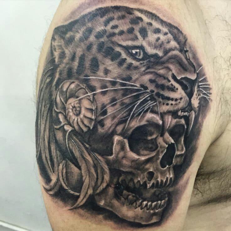 diseños tatuajes de jaguares mayas