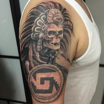 imagenes de tatuajes de calaveras aztecas