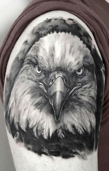 modelos de tatuajes de aguilas en el hombro