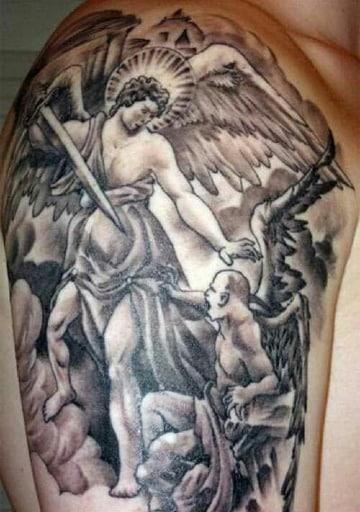 tatuajes de angeles y demonios para hombres