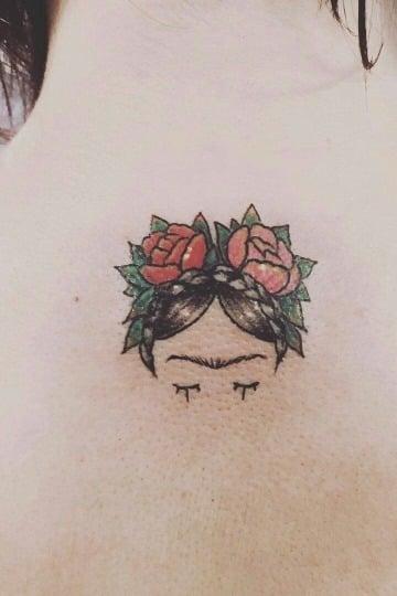 tatuajes de frida kahlo en caricatura