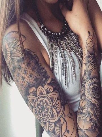 tatuajes de manga completa para mujer
