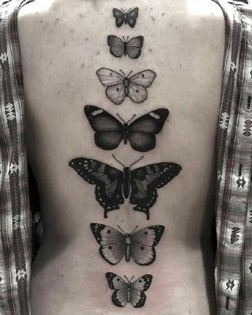 tatuajes de mariposas en la espalda 2018