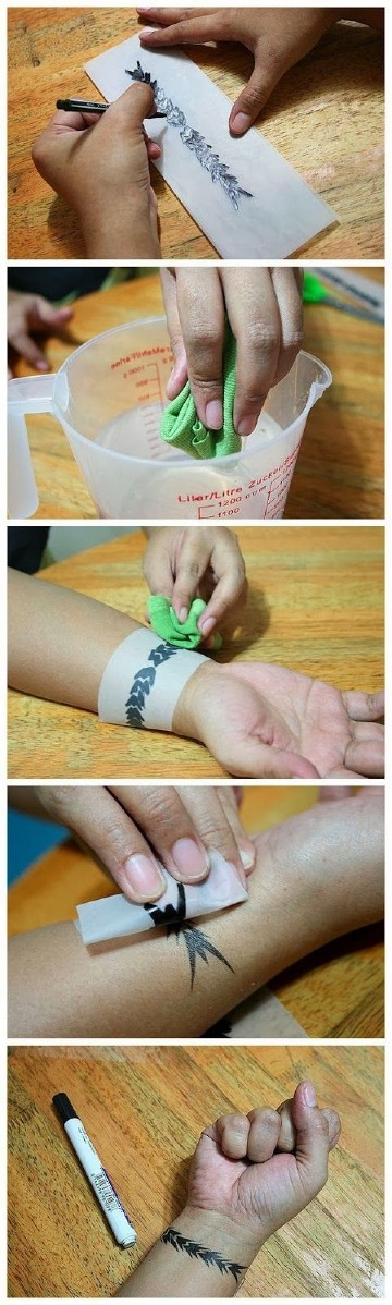 como hacerse un tatuaje temporal en casa sencillo