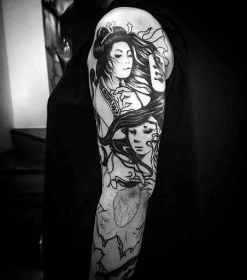 diseños de tatuajes chinos en el brazo