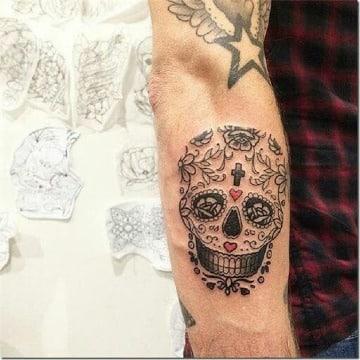 diseños de tatuajes de calaveras mexicanas para hombres