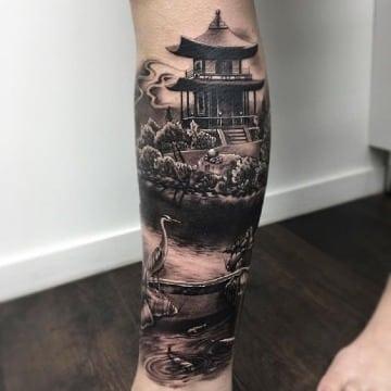 diseños de tatuajes de casas chinas