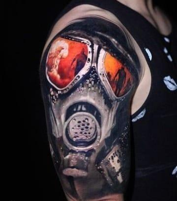diseños de tatuajes de mascaras de gas