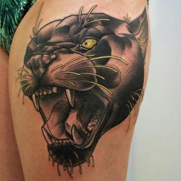 diseños de tatuajes de panteras para mujer