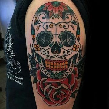 fotos de tatuajes de calaveras mexicanas para hombres