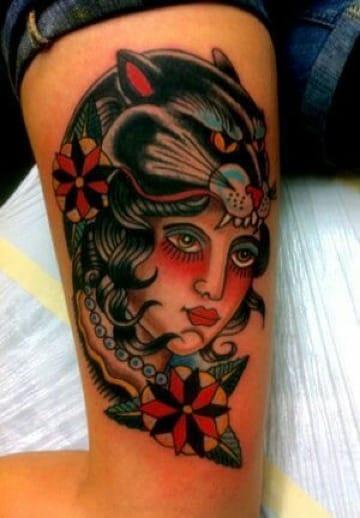 fotos de tatuajes de panteras para mujer