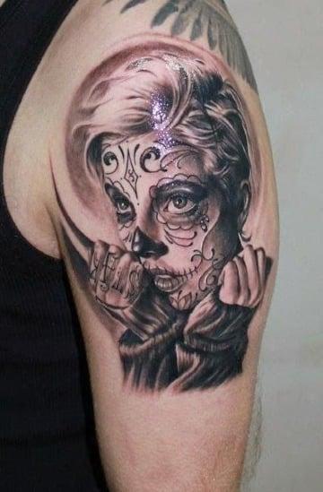 ideas de tatuajes de catrinas chidas