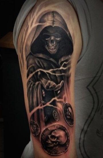 imagenes de tatuajes de la muerte en el brazo