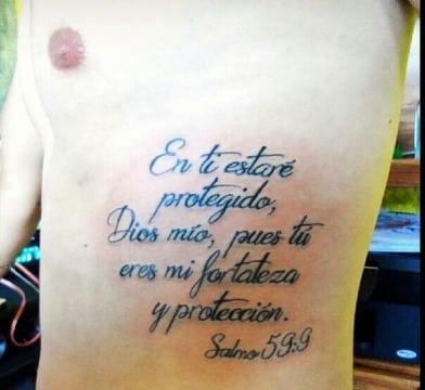 imagenes de tatuajes de salmos en español