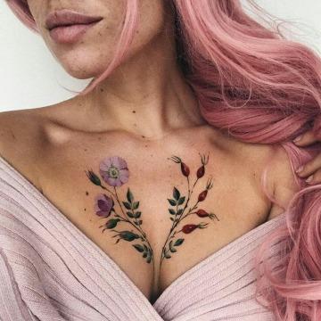 imagenes de tatuajes para mujeres en los senos