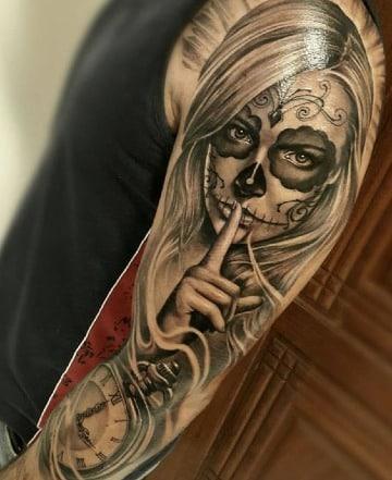 modelos de tatuajes de catrinas chidas