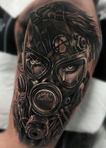 modelos de tatuajes de mascaras de gas