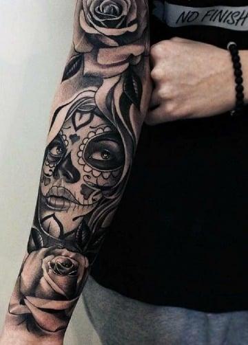 tatuajes de catrinas chidas para hombres