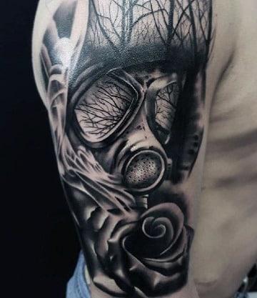 tatuajes de mascaras de gas para hombres