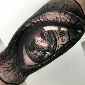 diseños de tatuajes de ojos realistas
