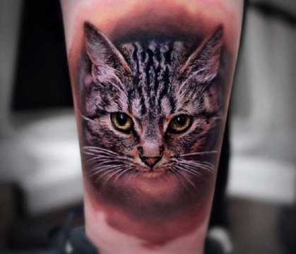 fotos de tatuajes de gatos realistas
