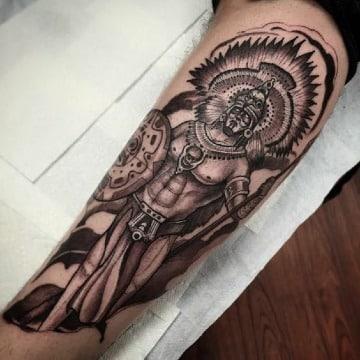 fotos de tatuajes de guerreros mayas