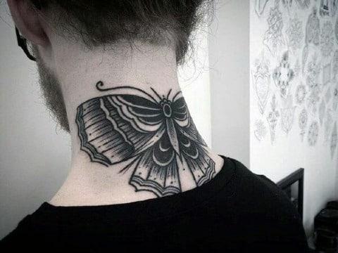 imagenes de tatuajes de mariposas en el cuello