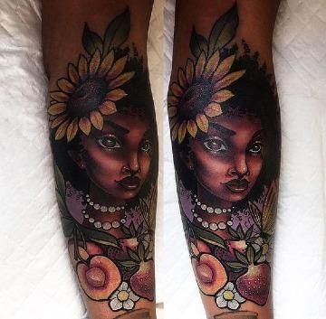 imagenes de tatuajes para piel negra