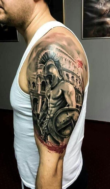 diseños de tatuajes de guerreros troyanos
