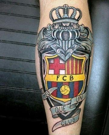 modelos de tatuajes de escudos de futbol