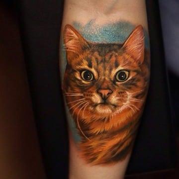 tatuajes de gatos realistas para hombre