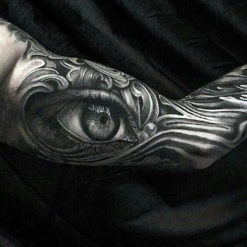 tatuajes de ojos realistas para hombres