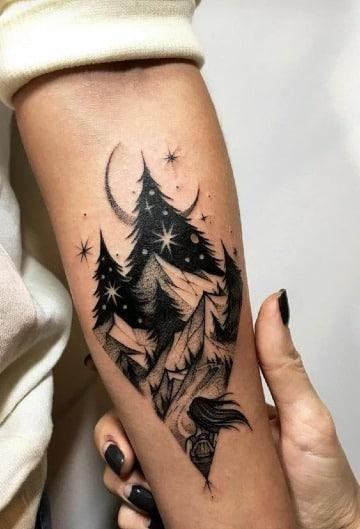 tatuajes de paisajes en el antebrazo para mujeres