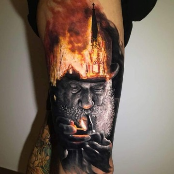 tatuajes realistas modernos hombres