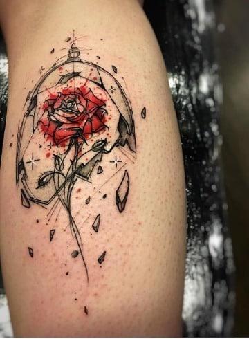 fotos de tatuajes de la bella y la bestia