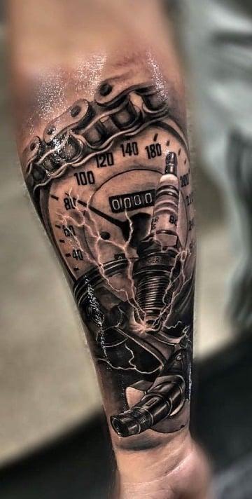 fotos de tatuajes relacionados con motos