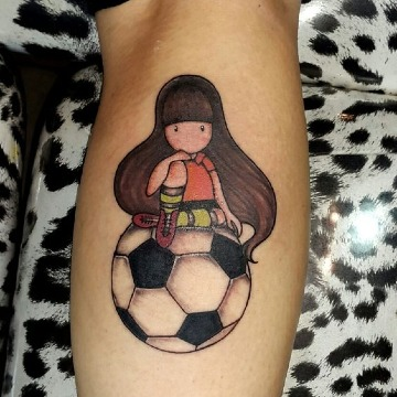 imagenes de tatuajes de futbol femenino
