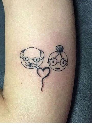 tatuajes dedicados a los abuelos para hombres