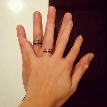 imagenes de tatuajes de anillos de compromiso