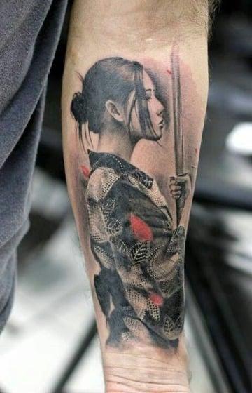 imagenes de tatuajes de geishas para hombres